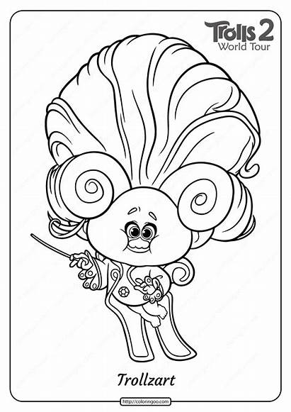 Trolls Coloring Printable Trollzart Pdf