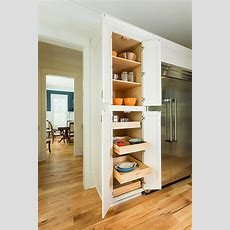 Kitchen Pantry Cabinets With Pullout Trays & Shelves