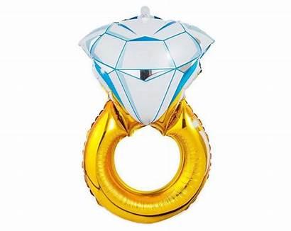 Balloons Balloon Engagement Diamond Ring Bachelorette Bridal