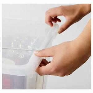 Samla Box Ikea : samla verschlussklips f box 55 130 l transparent ikea ~ Watch28wear.com Haus und Dekorationen