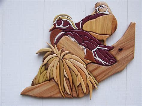 intarsia nuthatch bird  wood walnut beak feet