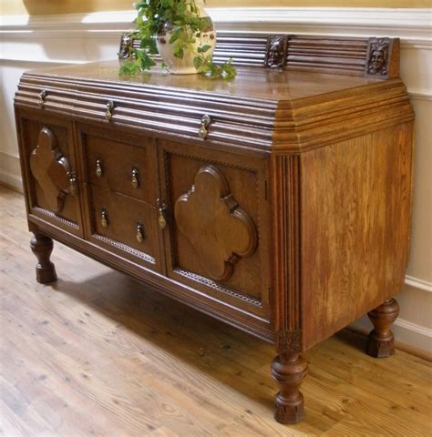 Sale Sideboards by Antique Solid Oak Carved Sideboard Server Buffet