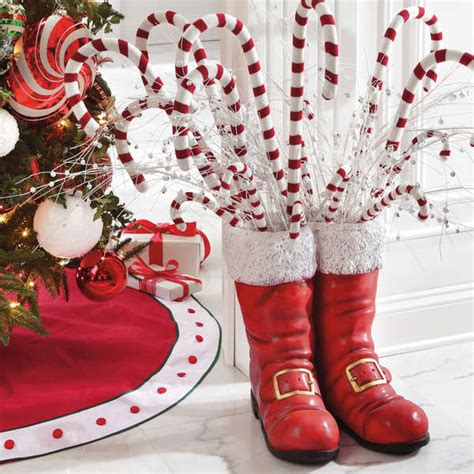 kris kringle footwear sculptures santa boots christmas decor