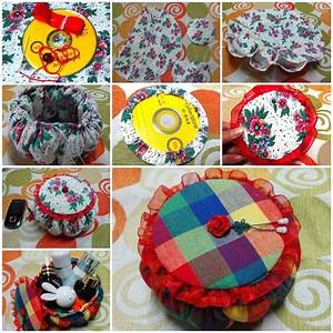 DIY Cute Little Storage Basket with Old CDs Good Home DIY