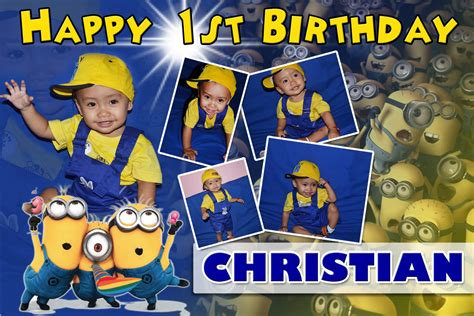 christians st birthday minions theme tarpaulin cebu