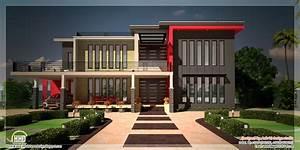 Beautiful contemporary luxury villa with floor plan ...