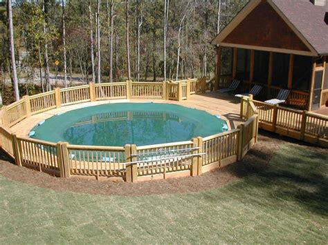 Above Ground Pool Deck Gallery by Swimming Pool Decks Above Ground Designs Home Design Ideas