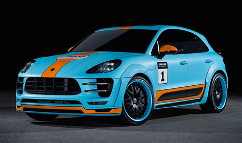 gulf liveried hamann porsche macan wide body unveiled