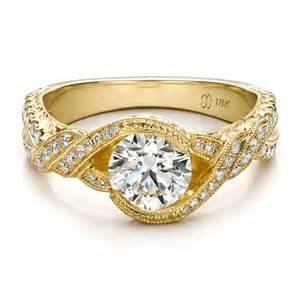 engagement rings seattle custom yellow gold and engagement ring 100253 bellevue seattle joseph jewelry
