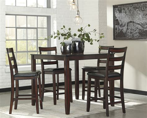coviar counter height dining room table  bar stools
