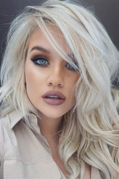 Platinum Hairstyle 50 platinum hair shades and highlights for 2019