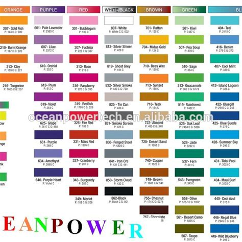 wall paint color code chart home painting