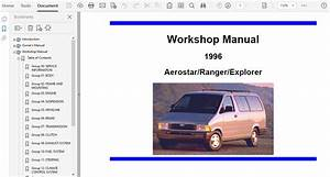 1996 Ford Ranger Repair Manual