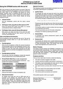 Sepura Stp8280 Tetra Portable Terminal User Manual Stp8000