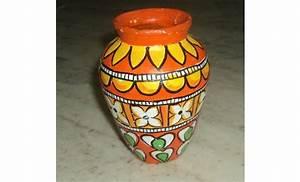 Kerala Mural Style Pot Painting