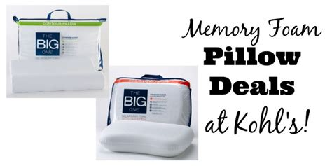 Kohl's The Big One Memory Foam Pillows As Low As $1399