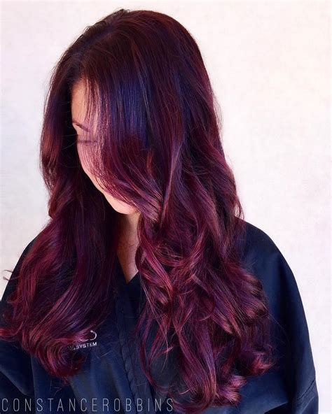 Tips For Brown Hair Color by Purple Brown Hair Colors For 2018 Best Hair Color Ideas