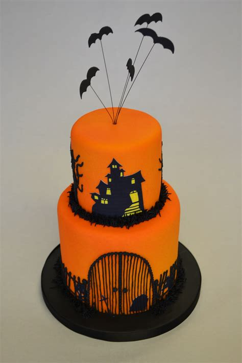 tier halloween cake celebration cakes cakeology