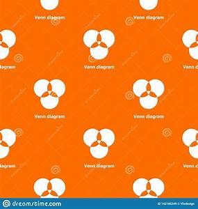 Round Venn Diagram Pattern Vector Orange Stock Vector