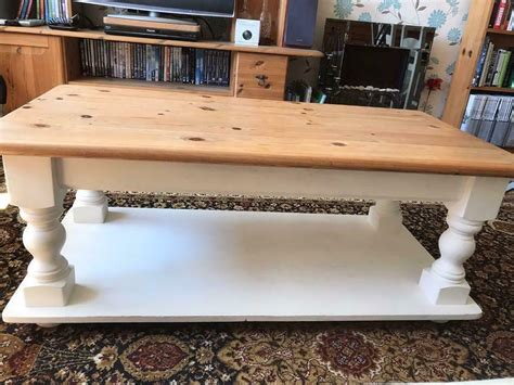 Coffee table makeover from orange pine to black chalk paint with a rich stain top gives this coffee table redo a thumbs up. Solid Pine Coffee Table | in Norwich, Norfolk | Gumtree