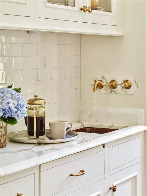 Pantry Sink Butler Pantry With Hammered Copper Sink And Wall Mount