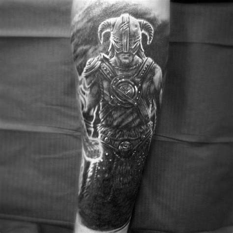 skyrim tattoo designs  men video game ink ideas