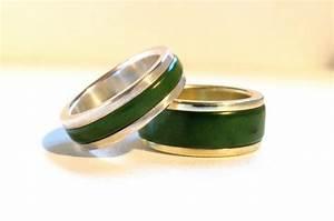 wedding rings jade greenstone pounamu and gold With pounamu wedding rings