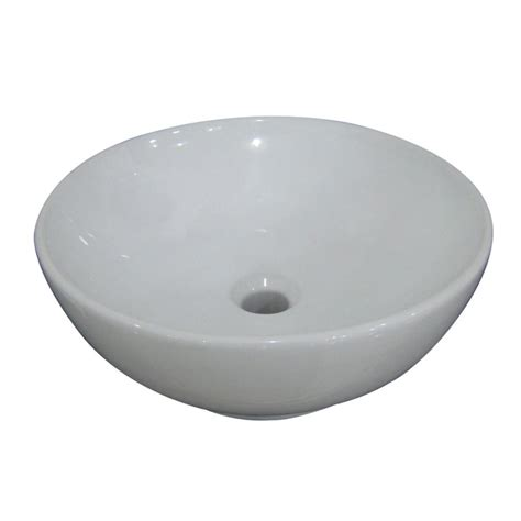 Shop Aquasource White Vessel Bathroom Sink At Lowes Com