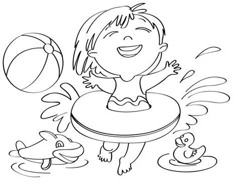 disegni bimbi al mare da colorare disegno per bambini da colorare gratis bambina vacanza