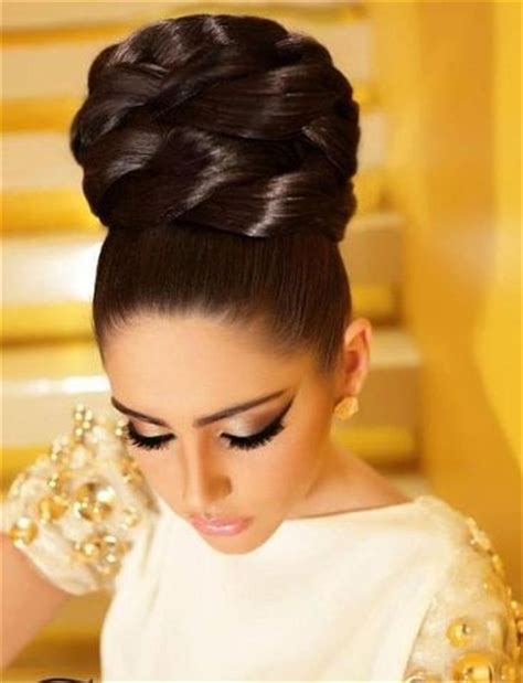 hair styling for tight collected hair with high buns wedding ideas 4680