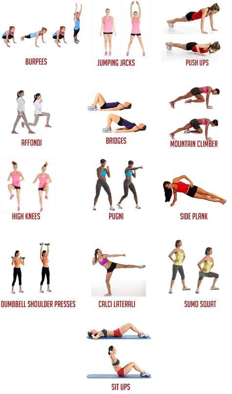 workout in casa costruisci il tuo workout esercizi 1 fitness esercizi
