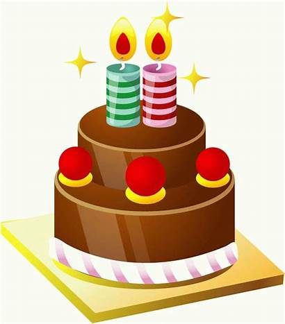Cake Birthday Vector Cakes Candles Clipart Cliparts