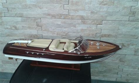 Lamborghini Boat Wood by Boat Model In Wood Riva Lamborghini 67 Cm Catawiki