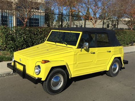 volkswagen thing yellow restored 1973 volkswagen thing bring a trailer