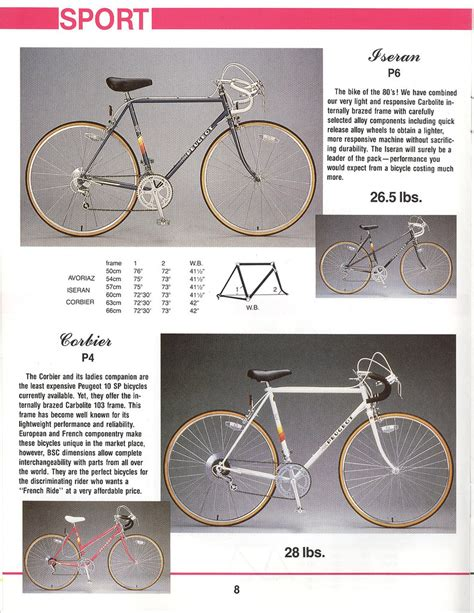 Peugeot Catalog by 1986 Peugeot Catalog Page Exle Of The White P4 Bike