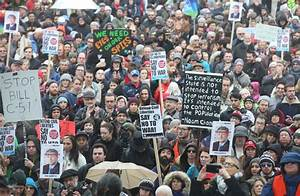 Thousands gather across Canada to protest proposed anti ...