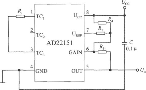 unipolar mode temperature compensation circuit with linear output integrated magnetic field