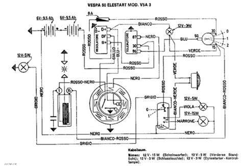 Vespa Lx 150 Wiring Diagram by Vespa Wiring Diagrams