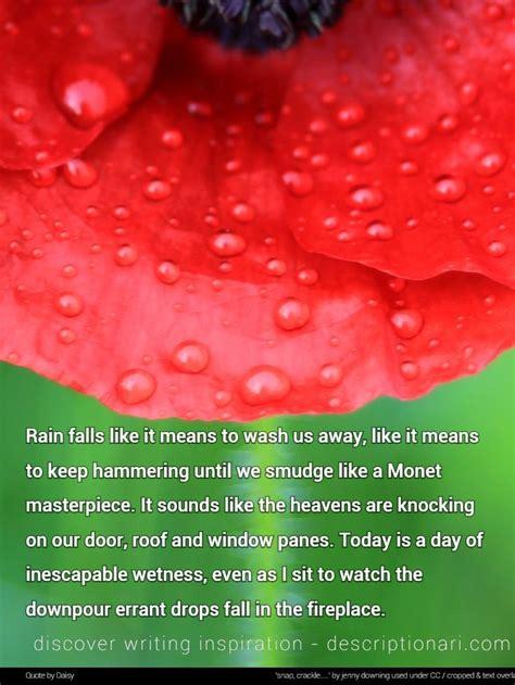 rain quotes  descriptions  inspire creative writing