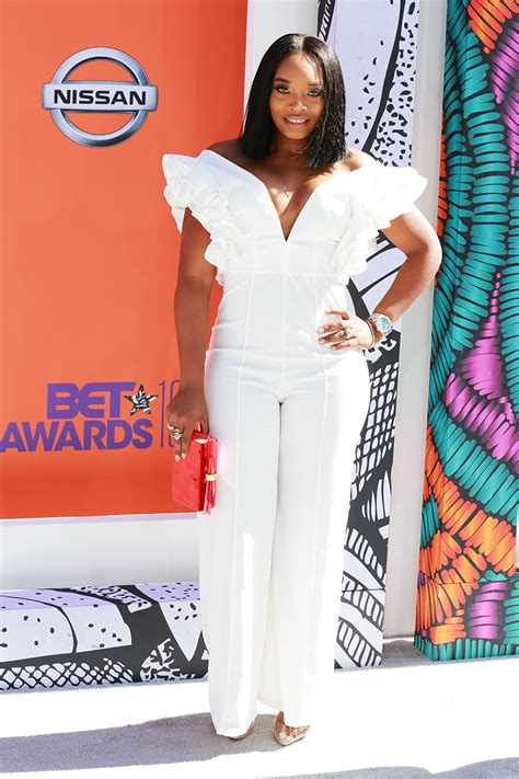 yandy smith attends   bet awards  microsoft