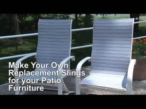 replacement sling cover for patio furniture make your