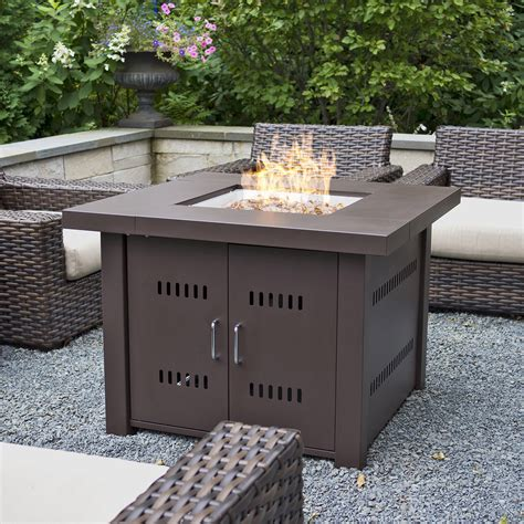propane gas fire pit outdoor table by blue rhino new outdoor fire pit square table firepit propane gas fire