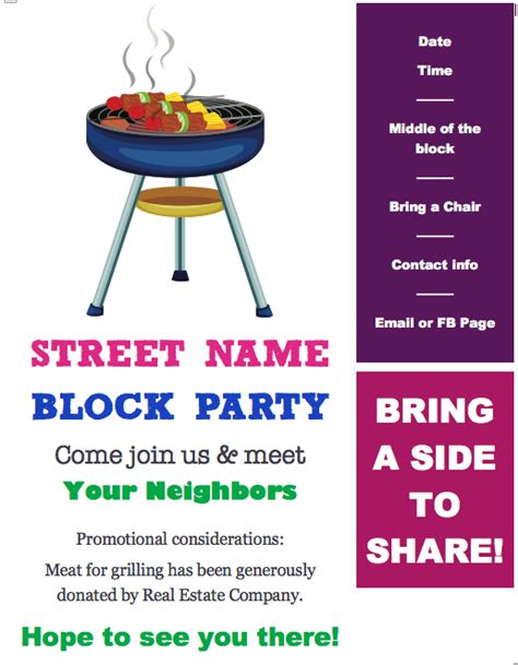 block party flyer template redhead ranting