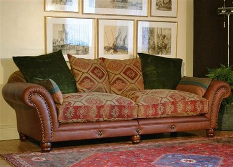 leather and fabric sofa mix sofa mixed fabrics solid and prints tetrad eastwood sofa