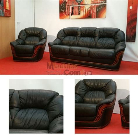 canape design destockage ensemble salon canapé convertible 3 places fauteuil cuir