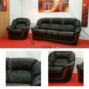 ensemble salon canape convertible 3 places fauteuil cuir With fauteuil 3 places convertible