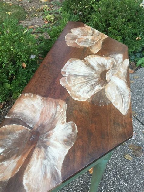Hometalk   Painting With Wood Stain: 80's Table Gets a