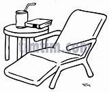 Chair Drawing Lawn Table Getdrawings sketch template