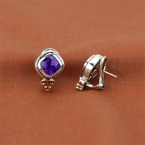 frederica sterling silver  yellow gold amethyst