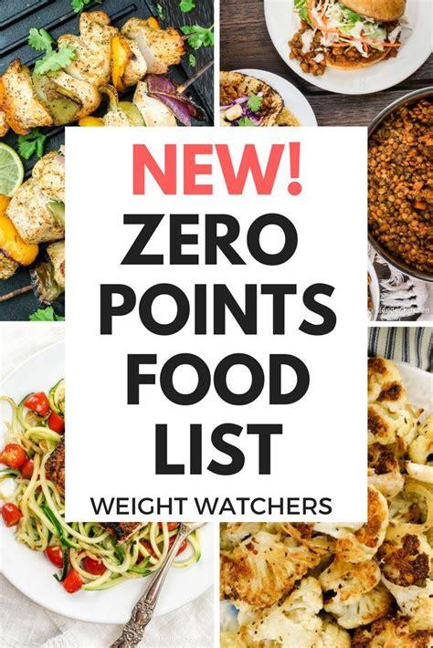 cuisine weight watchers weight watchers zero points food list freestyle plan